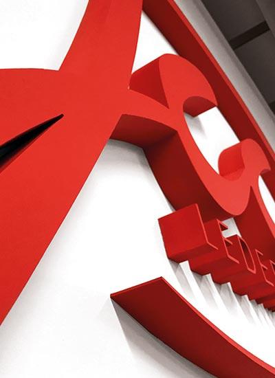 3D-Buchstaben-Werbekatalog