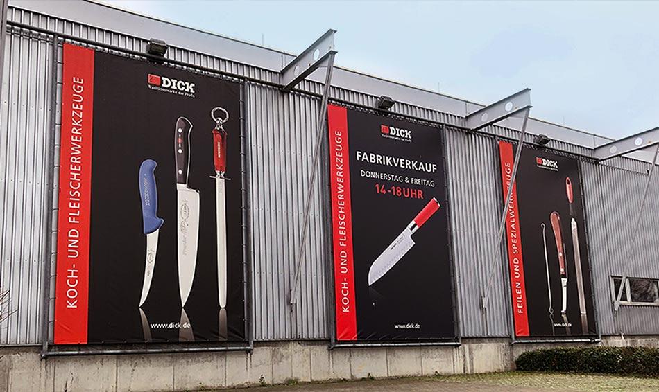 Druck von Großbanner für Dick GmbH