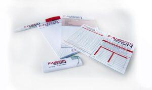 Briefbogen Visitenkarten Terminkärtchen mit Firmelogo individuell für die Fahrschule Gezgin