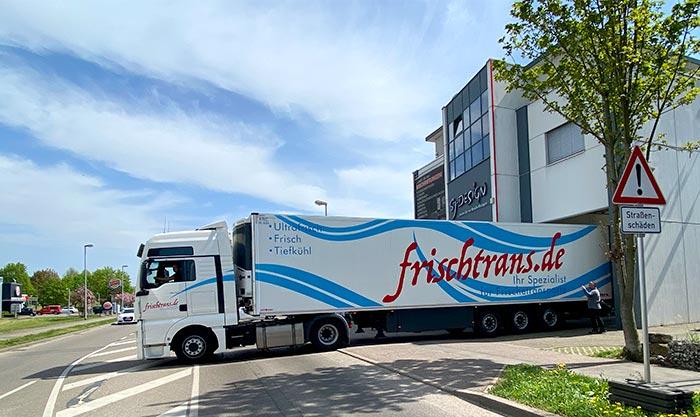 Lkw-Aufliegeberbeschriftung für Kühltransporter