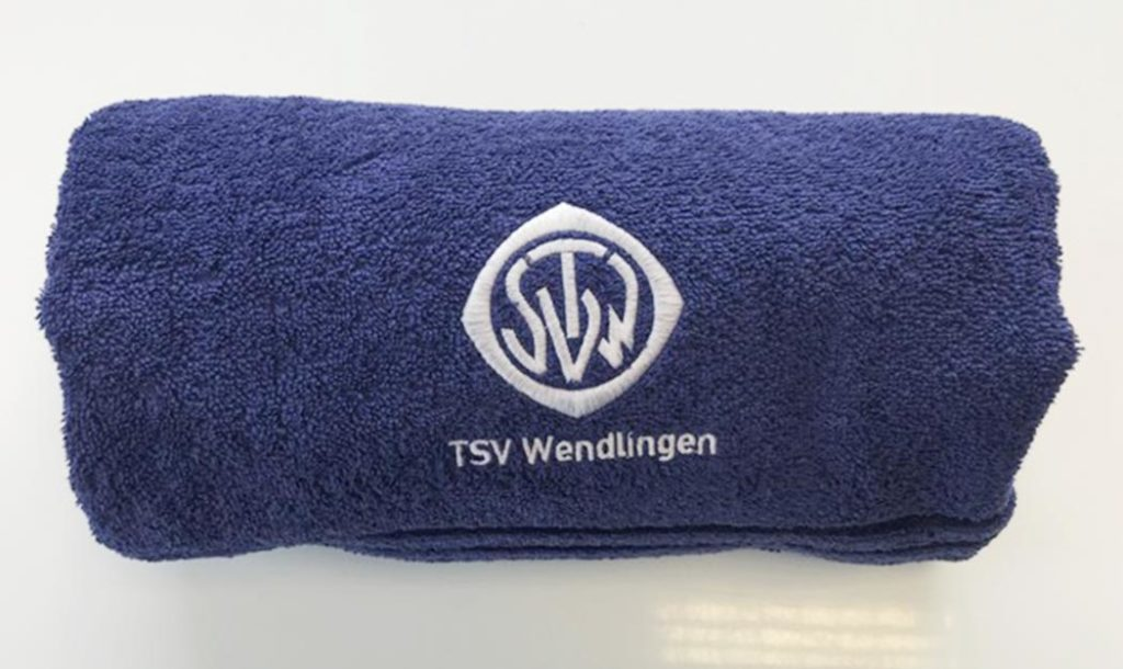 Handtücher als Werbemittel für den STV Wenndlingen bestickt