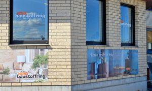 Fensterbeschriftung Baustoffring Konz in Eislingen