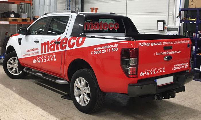 Fahrzeugbeschriftungen & Carwrapping in Esslingen für Mateco Stuttgart
