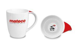Tassen Becher Trinkgläser bedruckt mit Ihrem Logo für Mateco
