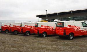 Mercedes Sprinter Servicefahrzeuge für die Firma Mateco teilfoliert mit Car Wrapping Folie beschriftet Umsetzung von Croporate Design