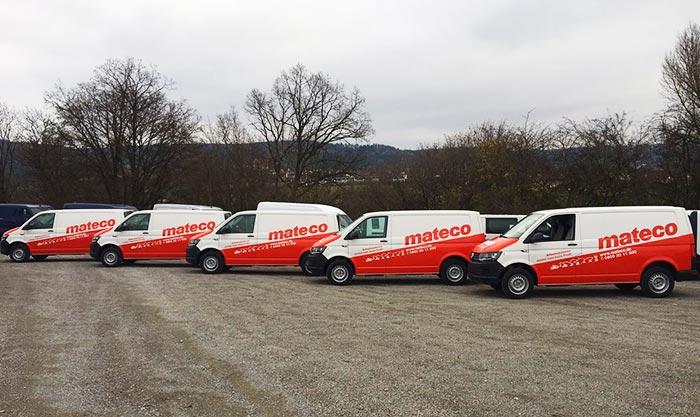 Firmenflotte für Mateco für die Niederlassung in Stuttgart, Mannheim, Heilbronn teilfoliert mit Avery Car Wrapping Folie