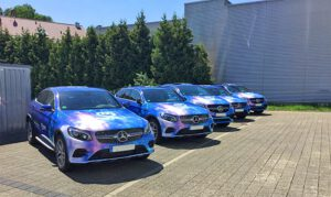 Fahrzeugvollverklebung mit Digitaldruckfolie G Klasse Mercedes