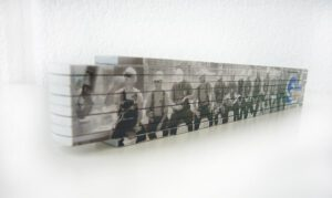 Holz-Meterstab Werbemittel 4-farbiger Druck
