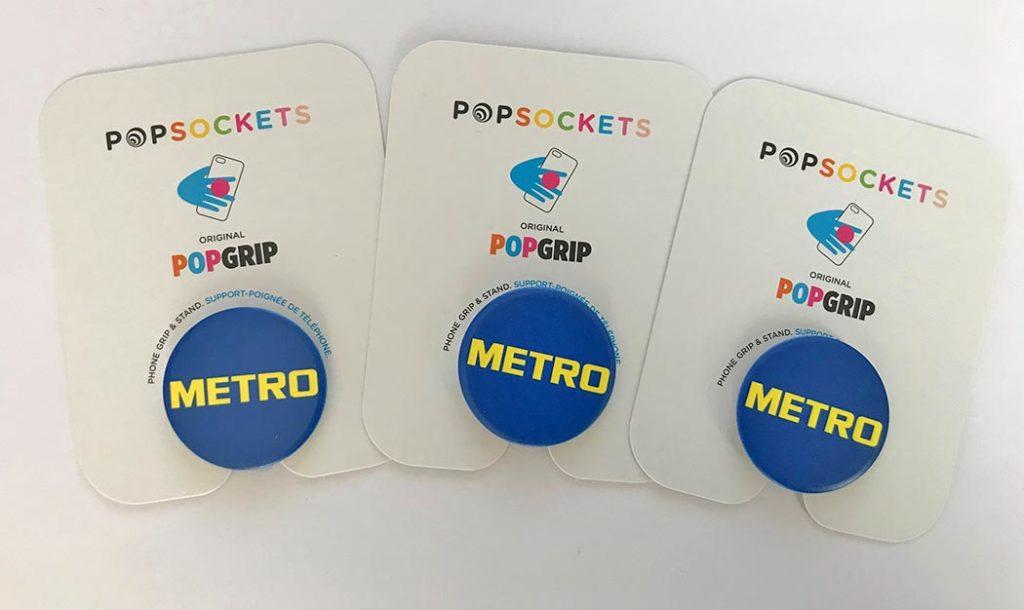 Metro Popsockets Bedruckt das individuelle Werbegeschenk