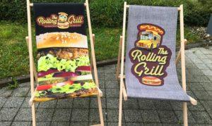 Liegestühle für Rolling Grill für den Imbiss