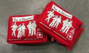 Erste Hilfe Verbandstasche mit Werbung von der IGM Esslingen 1-farbig bedruckt