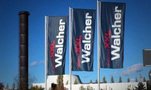 Fahne für Walcher mit Auslegerlasche
