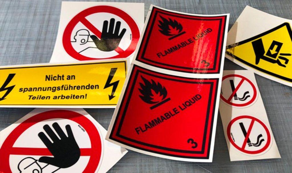 Warnaufkleber aus Deizisau von SJ-Design