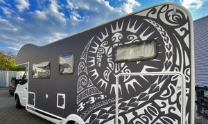 Wohnmobil Folierung mit Car Wrapping Folie