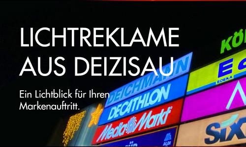 Lichtreklame von SJ-Design bei Deizisau bei Esslingen für Ihren Markenauftritt