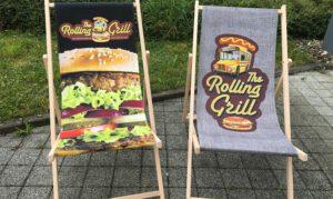 Bedruckte Klappstühle für Rolling Grill